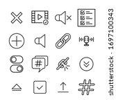 icon set of sign. editable...