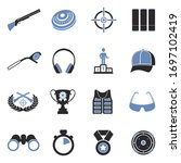 Clay Pigeon Shooting Icons. Tw...