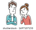illustration material  a couple ... | Shutterstock .eps vector #1697107153