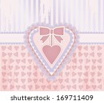 happy valentine day vintage... | Shutterstock .eps vector #169711409