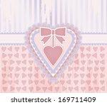 happy valentine day vintage... | Shutterstock .eps vector #169711409