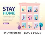 stay home landing page template.... | Shutterstock .eps vector #1697114329