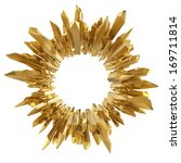 3d Abstract Gold Crystal...
