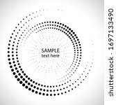 halftone dots in circle form.... | Shutterstock .eps vector #1697133490