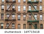 the typical old houses with...   Shutterstock . vector #169715618
