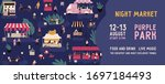 colorful horizontal banner for... | Shutterstock .eps vector #1697184493