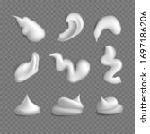 set of white cream or lotion... | Shutterstock .eps vector #1697186206