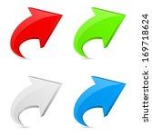 3d arrow icon concept | Shutterstock . vector #169718624