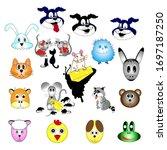 set of cartoon animals for kids.   Shutterstock .eps vector #1697187250