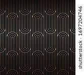 golden art deco pattern ... | Shutterstock .eps vector #1697204746