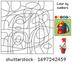 Schoolbag. Color By Numbers....