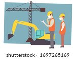 construction workers in white... | Shutterstock .eps vector #1697265169