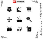 9 solid glyph concept for... | Shutterstock .eps vector #1697270269