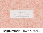 vintage card with magnolia...   Shutterstock .eps vector #1697274043