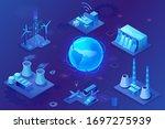 smart grid 3d isometric... | Shutterstock .eps vector #1697275939