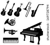 set of silhouette classical and ... | Shutterstock .eps vector #169728794