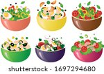 different kinds of healthy... | Shutterstock .eps vector #1697294680