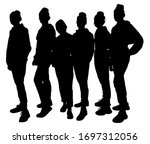 black silhouettes of...   Shutterstock .eps vector #1697312056