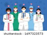 doctors is a hero. thank you... | Shutterstock .eps vector #1697323573
