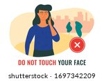 situation  illustrating a woman ... | Shutterstock .eps vector #1697342209