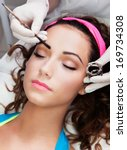 eyebrows tinting treatment with ... | Shutterstock . vector #169734308