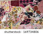 close up view of a mosaic at... | Shutterstock . vector #169734806