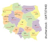 map of poland with voivodships  ... | Shutterstock .eps vector #169737440
