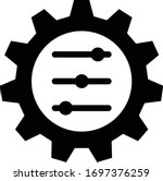 adaptation icon. black filled... | Shutterstock .eps vector #1697376259