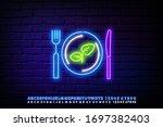 vegetarian restaurant logo.... | Shutterstock .eps vector #1697382403