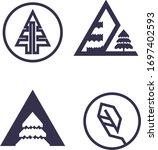 set of nature logo. bundle of... | Shutterstock .eps vector #1697402593