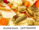 Close Up Pickled Vegetables Mix