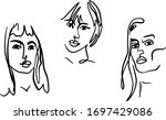 abstract woman portraits.... | Shutterstock .eps vector #1697429086