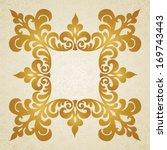 vector baroque frame in... | Shutterstock .eps vector #169743443
