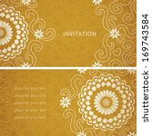 vintage invitation cards with... | Shutterstock .eps vector #169743584