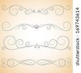 vector set   calligraphic... | Shutterstock .eps vector #169743614