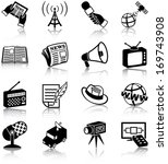 antenna,audio,broadcast,camera,channel,communication,digital,dish,document,feather,film,global,hand,hat,icon