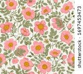 vintage floral illustration.... | Shutterstock .eps vector #1697453473