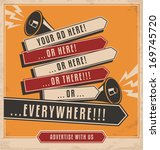 vintage ad design concept on... | Shutterstock .eps vector #169745720