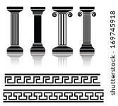vector illustration with  ancient columns for your design