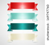 colorful ribbons set | Shutterstock .eps vector #169747760