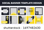 social media sale banners with...   Shutterstock .eps vector #1697482630