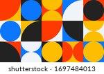 bauhaus design template. retro... | Shutterstock .eps vector #1697484013