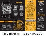 restaurant cafe menu  template... | Shutterstock .eps vector #1697493196