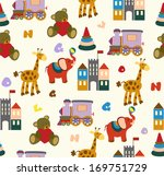 seamless baby background  | Shutterstock . vector #169751729
