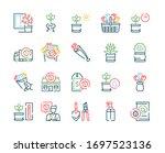 flowers symbols color linear...   Shutterstock .eps vector #1697523136