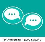 modern chat speech bubble...