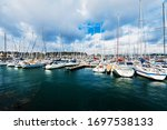 Sailing Boats Moored To A Pier...