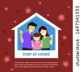 vector flat illustration family ... | Shutterstock .eps vector #1697541553