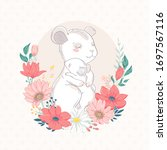 mouse family character with...   Shutterstock .eps vector #1697567116