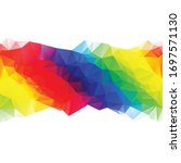 colorful polygonal mosaic...   Shutterstock .eps vector #1697571130